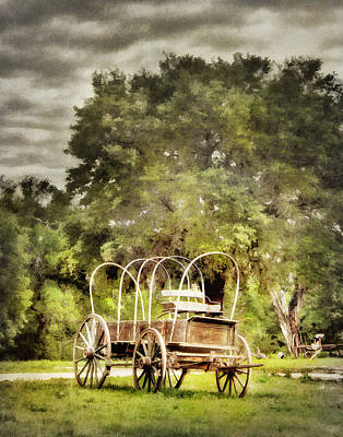 Photograph - The Old Covered Wagon by David and Carol Kelly