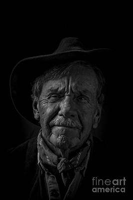 Photograph - The Old Cowboy by Edward Fielding