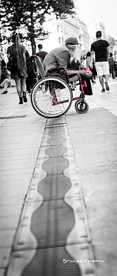 Photograph - The Old Crippled Man by Stwayne Keubrick
