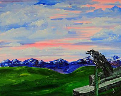 The Old Crow - Speaking Words Of Wisdom Art Print