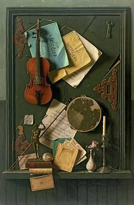 Bronze Painting - The Old Cupboard Door, 1889 by William Michael Harnett