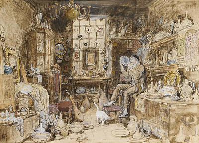 Myles Birket Foster Digital Art - The Old Curiosity Shop by Myles Birket Foster