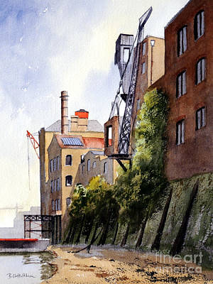 Painting - The Old Docks - Rotherhithe London by Bill Holkham