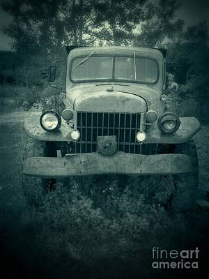 Dodge Truck Wall Art - Photograph - The Old Dodge by Edward Fielding