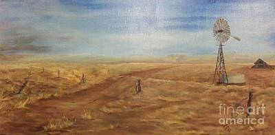 Roadrunner Painting - The Old Farm by Affordable Art Halsey