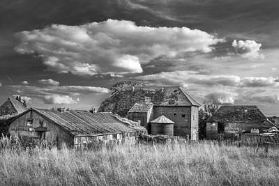 Art Print featuring the photograph The Old Farm Buildings. by Gary Gillette