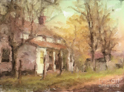Digital Art - The Old Farm House by Ruby Cross