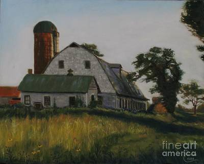 Painting - The Old Farm In Fredrick Maryland by Janet Poirier