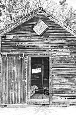 Corn Cribs Photograph - The Old Farm Shed by Edward Fielding