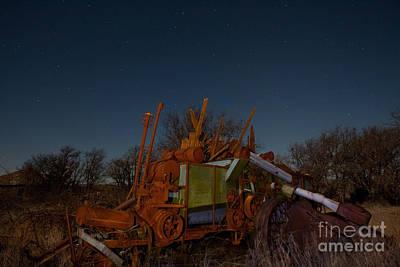 West Texas Photograph - The Old Farm Thrasher by Keith Kapple