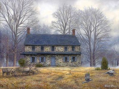 Quaker Painting - The Old Farmhouse by Chuck Pinson