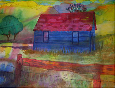 Abandoned House Drawing - The Old Farmhouse by Jennifer Schwab