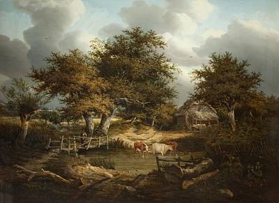 Farmsteads Painting - The Old Farmstead by Robert Ladbrooke