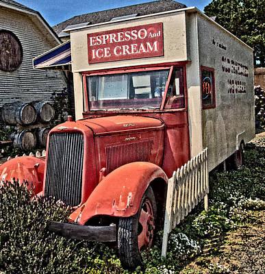 The Espresso And Ice Cream Truck Art Print
