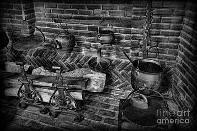 Grate Photograph - The Old Fireplace by Lee Dos Santos