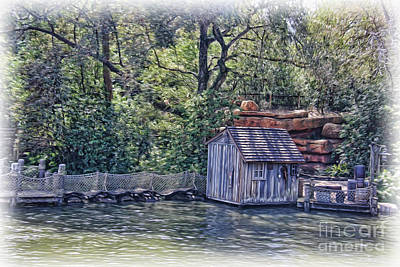 Netting Photograph - The Old Fishing Shack by Lee Dos Santos
