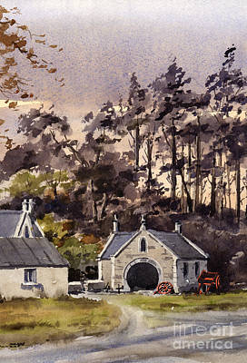 Painting - The Old Forge In Enniskerry Wicklow by Val Byrne
