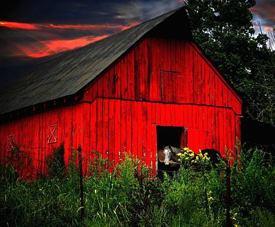 The Old Frederick Barn Art Print by Julie Dant