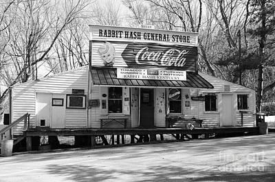 Coca-cola Sign Photograph - The Old General Store Bw by Mel Steinhauer