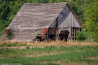 Art Print featuring the photograph The Old Gray Barn by Nick Kirby