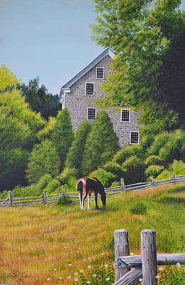 The Old Grist Mill Art Print by Dave Hasler