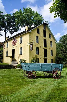 The Old Grist Mill Near Valley Forge Art Print by Bill Cannon