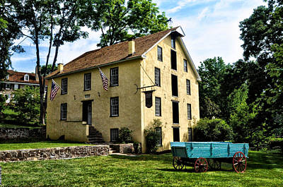 The Old Grist Mill  Paoli Pa. Art Print by Bill Cannon