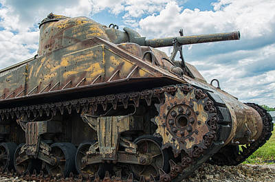 The Old Guardian-sherman Tank Art Print