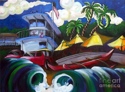Outrigger Painting - the Old Headquarters by Jerri Grindle