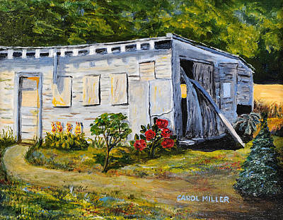 Painting - The Old Hen House by Carol L Miller