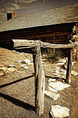 Photograph - The Old Hitching Post by Lincoln Rogers