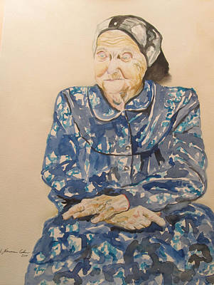 Painting - The Old Holocaust Survivor by Esther Newman-Cohen