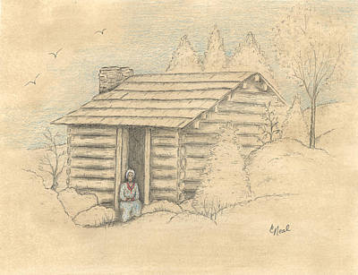 Drawing - The Old Homeplace by Carol Neal