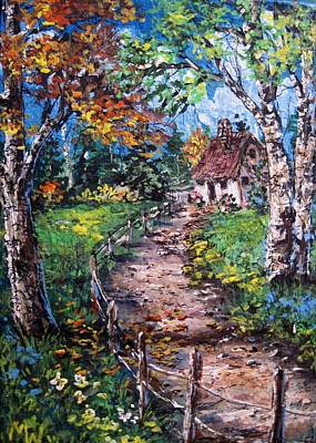 Art Print featuring the painting The Old Homestead by Megan Walsh