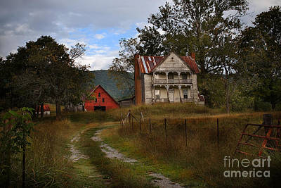 The Old Homestead Art Print by T Lowry Wilson