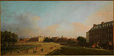Park Scene Painting - The Old Horse Guards From St James S Park by Celestial Images