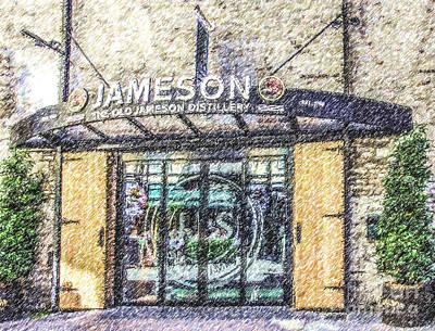 Digital Art - The Old Jameson Distillery Dublin Ireland by Liz Leyden