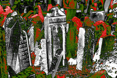 Photograph - The Old Jewish Cemetery 2 by Leo Symon