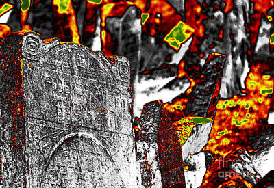 Photograph - The Old Jewish Cemetery 3 by Leo Symon