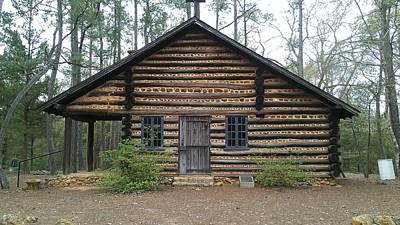 Photograph - The Old Log Church by Lew Davis