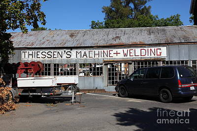 The Old Machine And Welding Shop Pleasanton California 5d23980 Print by Wingsdomain Art and Photography