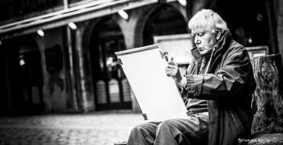 Photograph - The Old Man Painter II by Stwayne Keubrick