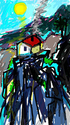Montana Digital Art - The Old Man Who Lived On A Mountainside  by Paul Sutcliffe