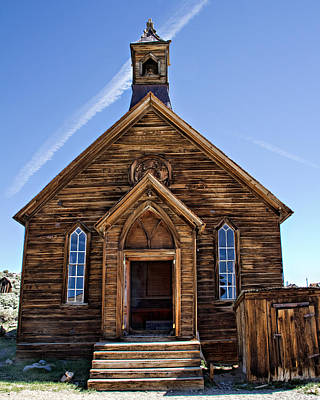 Photograph - The Old Methodist Church - Front View by Lana Trussell