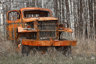 The Old Military Truck Art Print
