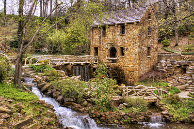 Photograph - The Old Mill And The Waterfall by Jason Politte