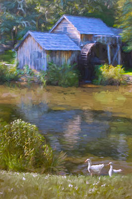 The Old Mill At Mabry Art Print