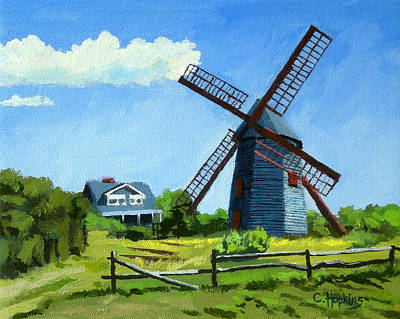 Chatham Lighthouse Painting - The Old Mill Cape Cod Massachusetts by Christine Hopkins