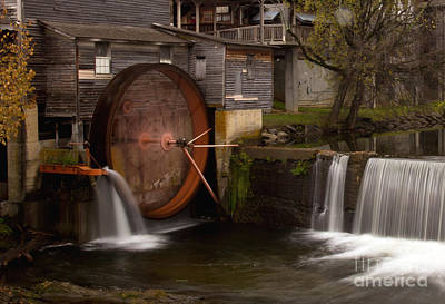 The Old Mill Detail Art Print by Douglas Stucky