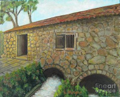 Painting - The Old Mill In Dubrovnik by Laurie Morgan